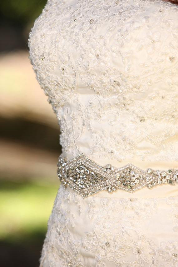 Wedding Dresses Sashes Crystal Beaded