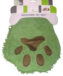 happypaws happypaws New! MICROFIBER Green PET MIT with Shaggy Fingers: Great For Grooming Dogs!