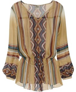 Haute Hippie Silk Top Multi