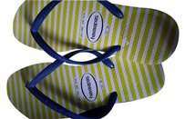 Havaianas Yellow, blue and white Sandals