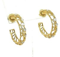 Hearts on Fire Hearts On Fire 18k Diamonds Brocade Hoop Earrings