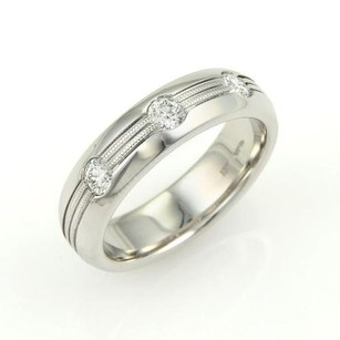 Hearts on Fire Hearts On Fire Mens Duets Burnished Diamond 18k White Gold Band Ring-size 9.25