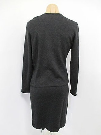 Heidi Weisel Gray Strapless Cashmere Dress Wleather Matching Sweater - durable service