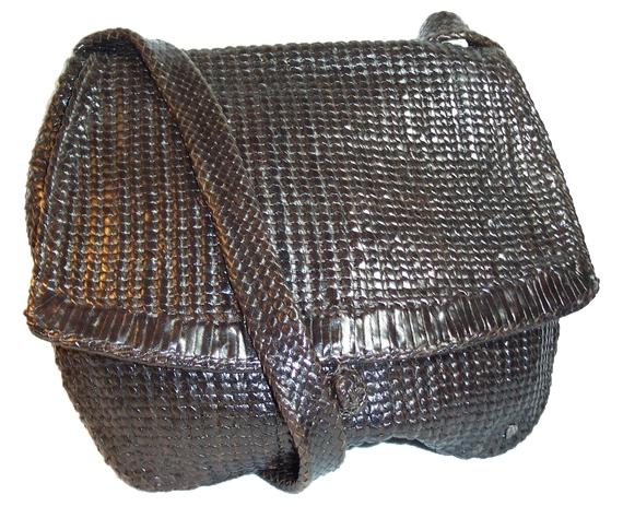 Helen Kaminski Dark Brown Woven Leather