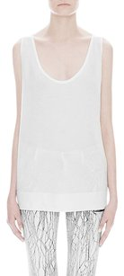 Helmut Lang Feather Optic Top White