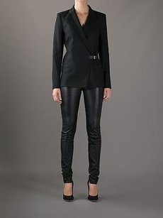 Helmut Lang Helmut Lang Stark Leather Buckle And Collar Tailored Blazer Jacket