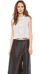 Helmut Lang Leather Top White