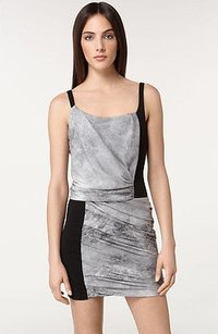 Helmut Lang short dress Gray Graphite Print on Tradesy