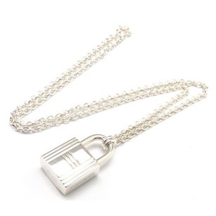 Hermès Authentic Hermes Sterling Silver Cadena Pendant Necklace