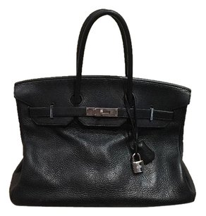 Hermès Birkin 35cm Togo Leather Satchel in Black