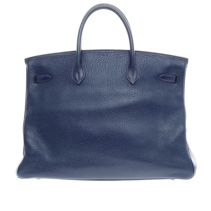 b0a65995afde2 ... italy hermès birkin saphir buffalo with gold hardware 40 blue leather  tote 52992 c8e9a ...