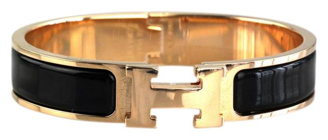 ac5bbcc129106 france hermes bracelet black and rose gold d8f03 a471d