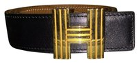 Hermès CHECK STOCK Hermes Cadena Reversible Belt Gold Buckle Sz 70 Cm NOT AT STORE
