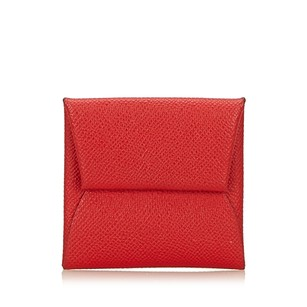 Hermès Coin Pouch Leather Others Red 6lheco001