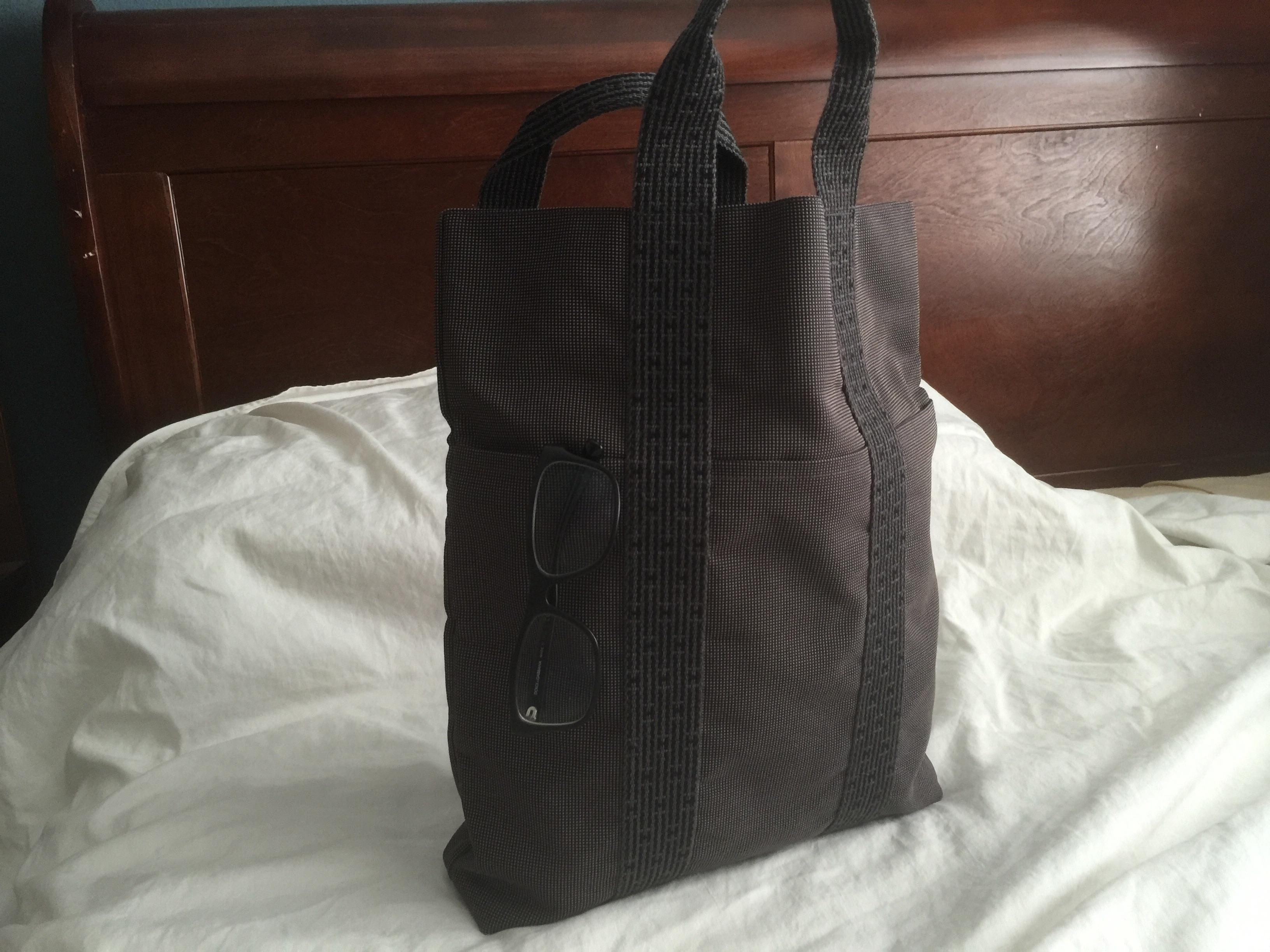 8e83c5f0d ... black grey canvas herline pm tote bag 727d1 be3da aliexpress hermès  hermes herline cabas canvas hand tote bag.