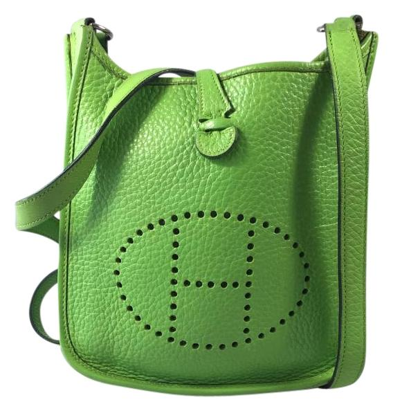 6c4d4ec73553 ... shopping hermès evelyne green apple leather cross body bag tradesy  3ad80 94e8b