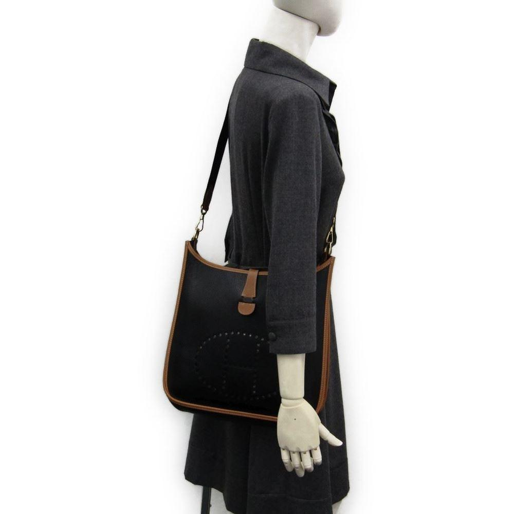 9fe3ff08882d ... where to buy hermès evelyne pm black clemence leather cross body bag  tradesy 5c960 772a1