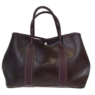 Hermès Hand Leather Tote in Bordeaux