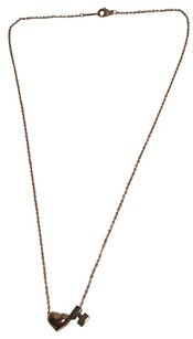 Hermès Hermes 14K Yellow Gold Heart H Charm Necklace