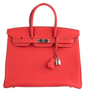 Hermès Hermes Birkin Rouge Pivone Satchel in Red / Pink