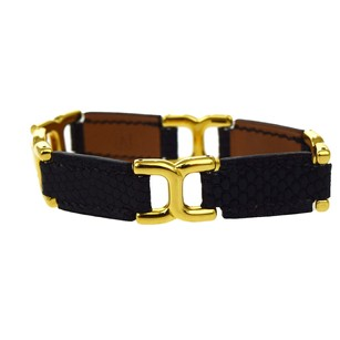 Hermès HERMES Bracelet Bangle Lizard Leather