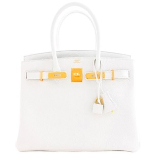 Hermès Hermes Gold 30cm Birkin Satchel in White