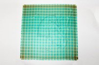 Hermès Hermes Green Brown Yellow Plaid Silk Horse Print Scarf