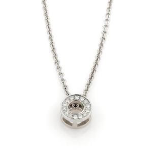 Hermès Hermes Diamond 18k White Gold Round Pendant Necklace