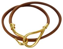 Herms HERMES Jumbo Hook Bracelet Bangle Leather