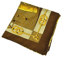 Herms HERMES JUMBO XL CLIQUETIS SCARF BR BE SILK FA04739