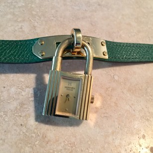 Herms Hermes Kelly Cadena PM vintage watch green gold