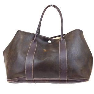 Hermès Party Hand Leather Brown Hobo Bag