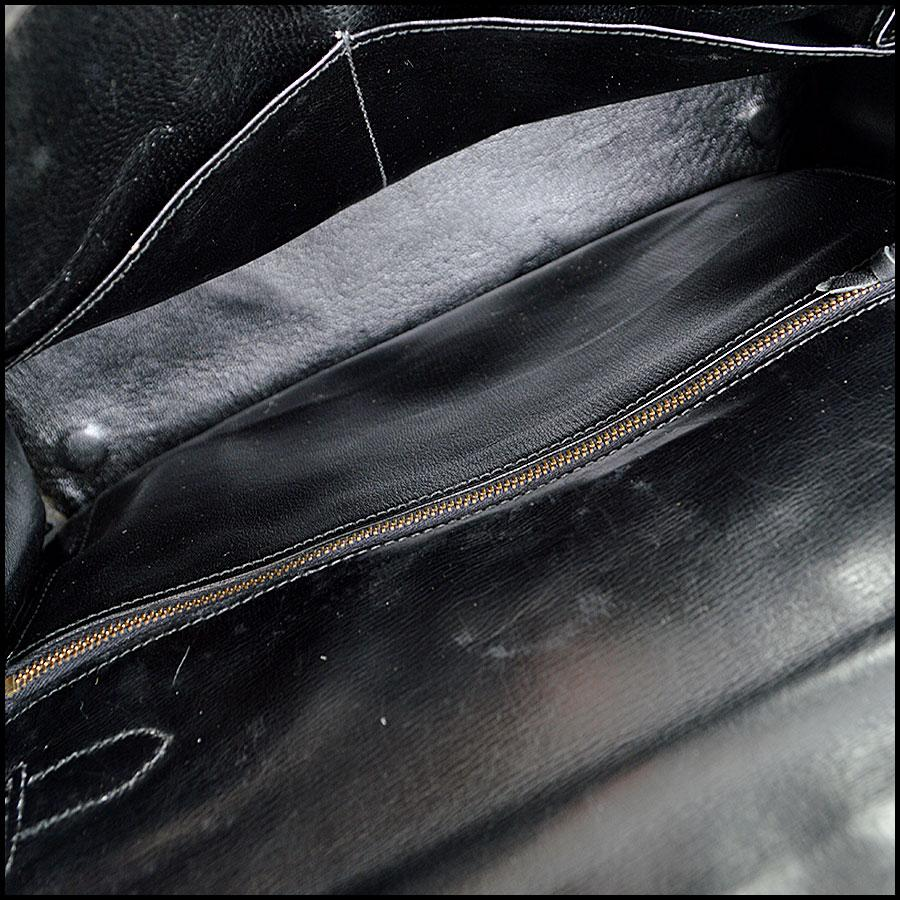 d8051061032fe ... clearance hermès kelly vintage chamonix 32cm handbag black leather tote  tradesy f2252 40293