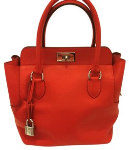 Herms Satchel in Vermillion