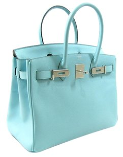Hermès Tote in Blue Atoll(Hardware:Silver)