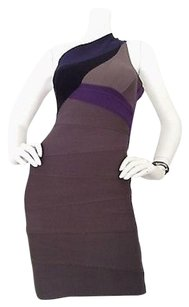 Hervé Leger Nwt Herve Multi Color Dress