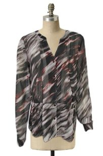 Hinge Abstract Printed Top Multi-Color