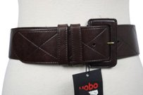 Hobo International Hobo Womens Brown Diamond Wide Belt Leather Casual Accessories