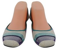 Hogan Womens Purple Blue Blue, Purple, Navy, Coral, Ivory Flats
