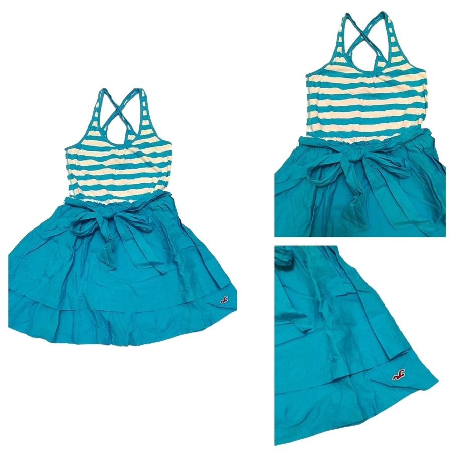 Hollister Baby Blue And White Dress f Retail