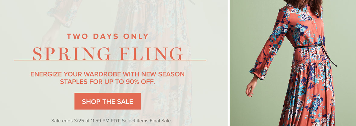 Two Days Only: Spring Fling