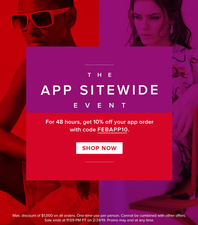 The App Sitewide Event