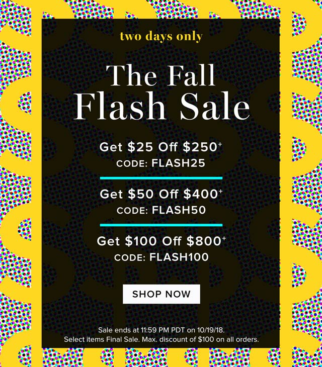 Two Days Only: The Fall Flash Sale