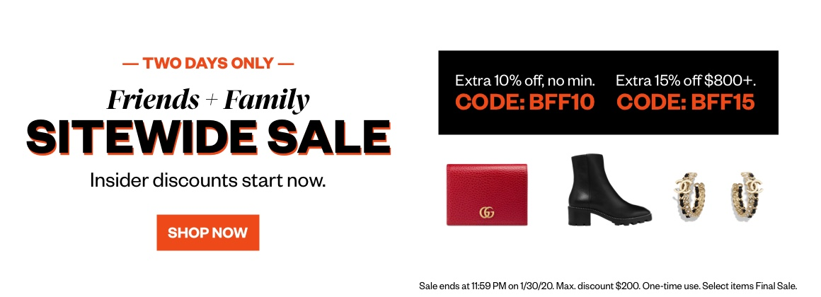 Friends + Family Sitewide Sale
