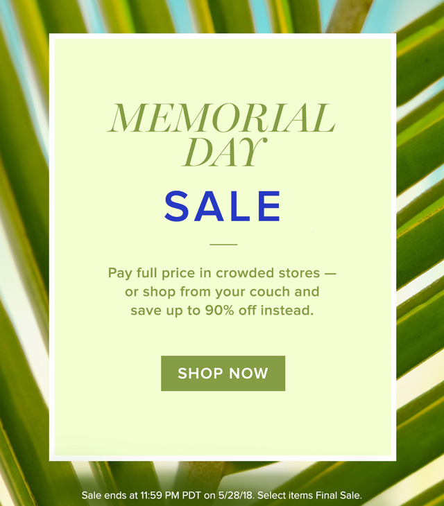 Early Memorial Day Sale
