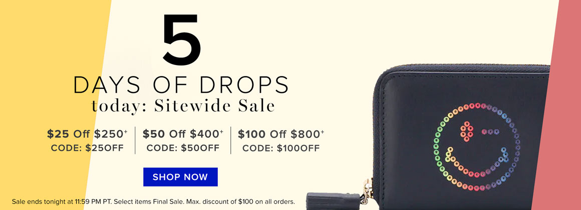 5 Days Of Drops: Sitewide Sale