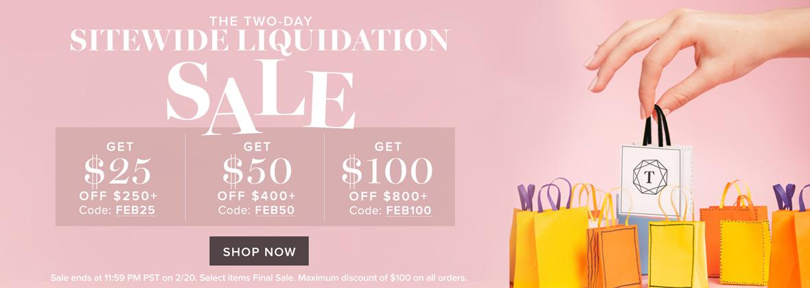 The Two-Day Sitewide Liquidation Sale