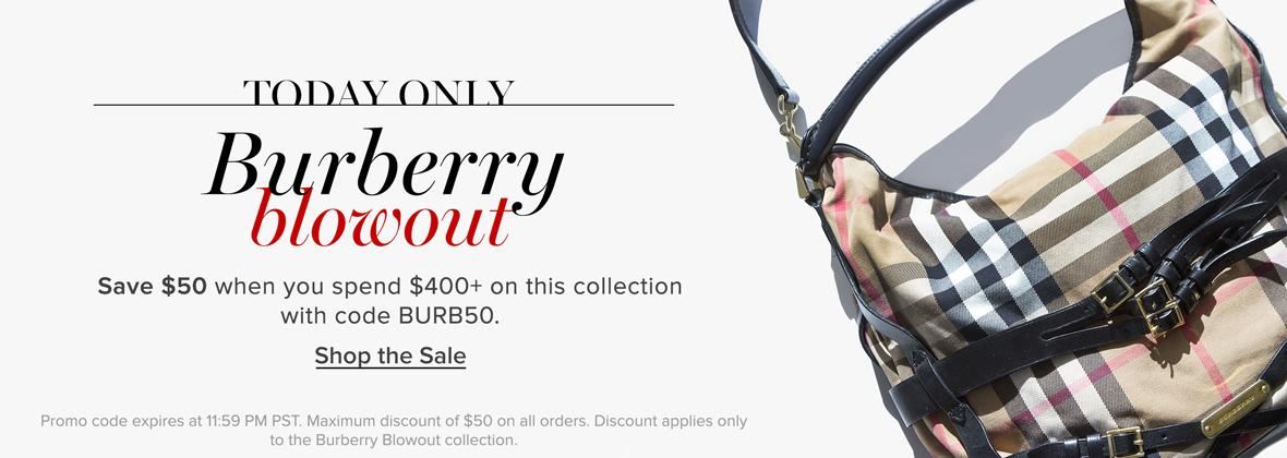 Today Only: Burberry Blowout