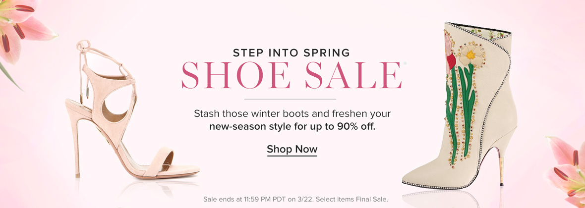 Step Into Spring Shoe Sale