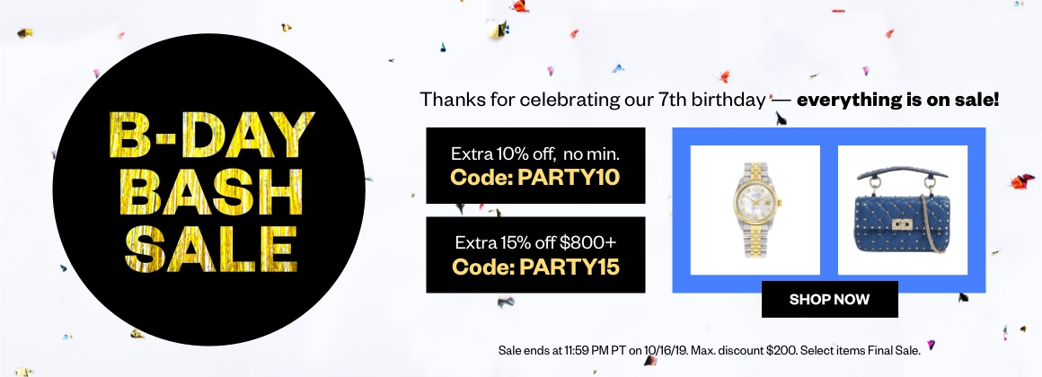 B-Day Bash Sitewide Sale